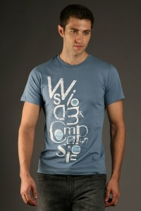 Wearable Art and casual clothing for men, made in the USA jersey tee
