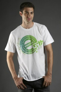 Green Slogan and Casual clothing for men, made in the USA jersey tee
