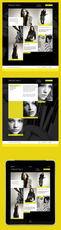 webdesign / Grid meets YELLOW. — Designspiration