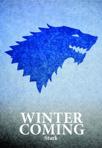 Game Of Thrones, typography poster on Stretched Canvas by Lab No. 4 | Inspiration DE