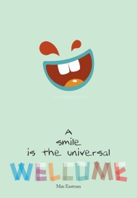 Max Eastman Smile Quote, Typography Poster on Stretched Canvas by Lab No. 4 | Inspiration DE