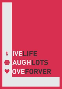 Live, laugh, love Quote, a beautiful Typography Poster on Stretched Canvas by Lab No. 4 | Inspiration DE