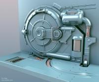 """Tor """"Snefer"""" Frick´s art : Finished scifi-door"""