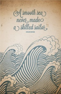 Canvas Quote Art A smooth sea never made a skilled by PinQuotes | Inspiration DE