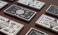 Business card letterpress and design services by Print & Grain. | Inspiration DE