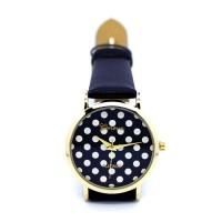shego shopping mall — [grzxy61500042]Sweet Girl Polka Dot Stainless Quartz Watch Wristwatch