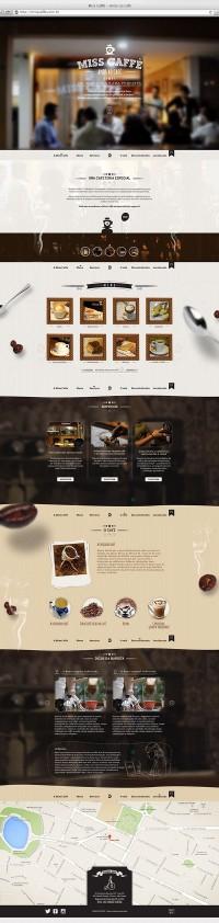 Website for cafeteria in João Pessoa / Paraíba / Brazil. | Inspiration DE