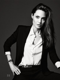 Angelina Jolie by Hedi Slimane | Elle US June 2014 - CzytajNiePytaj - Magazyn Online. Sztuka, Moda, Design, Kultura