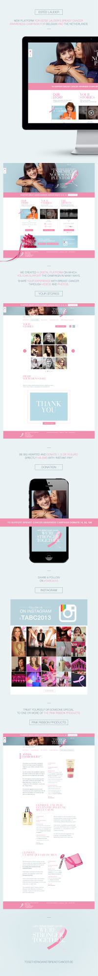 Estée Lauder's Together Against Breast Cancer campaign on
