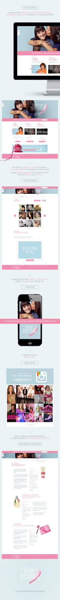 Estée Lauder's Together Against Breast Cancer campaign on