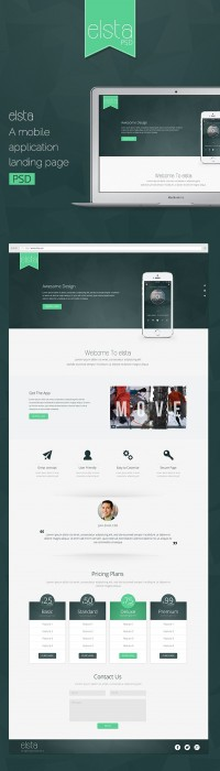 Free Mobile Application Landing Page PSD | BlogSizzle