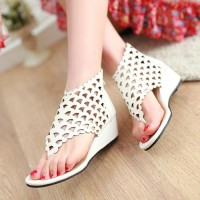 shego shopping mall — [grzxy61900386]Caged Cutout Wedge Heel Thong Sandal Summer Ankle Bootie