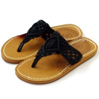 shego shopping mall — [grzxy61900389]Boho Sunflower White/Black Braided T Strap Thong Sandal