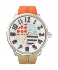 "TENDENCE WATCH ""CRAZY"" ORANGE & BEIGE STRAP 100m WR 50mm CASE DIAMETER T0430061 - CRAZY - TENDENCE"