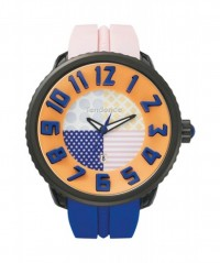 TENDENCE WATCH 'CRAZY' PINK & BLUE STRAP 100m WR 50mm CASE DIAMETER T0430063 - CRAZY - TENDENCE