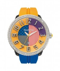 "TENDENCE WATCH ""CRAZY"" BLUE & ORANGE STRAP 100m WR 50mm CASE DIAMETER T0430064 - CRAZY - TENDENCE"