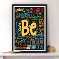 Be Positive Nice Brave Loving Honest…..with Modern typography Print by Lab No. 4 | Inspiration DE