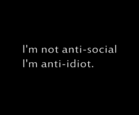Anti social | via | We Heart It