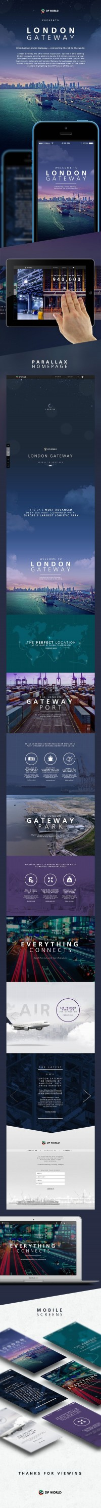 London Gateway | Web Design | Pinterest
