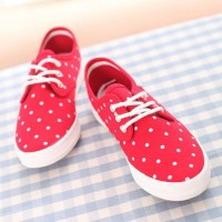 shego shopping mall — [grzxy61900399]Dotted Casual Shoes Lace Up Low Top Canvas Sneaker