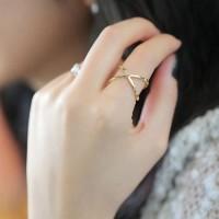 shego shopping mall — [grzxy6700014]Hot Gold/Silver Tone Criss Cross Finger Ring