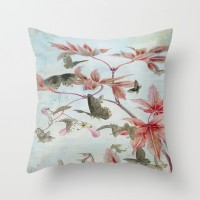 Maple And Butterflies Throw Pillow by Ally Coxon | Society6