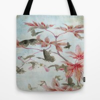 Maple And Butterflies Tote Bag by Ally Coxon | Society6