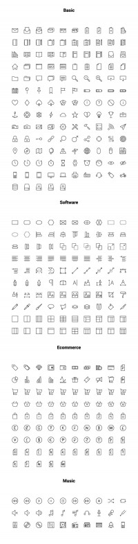 Linea - Free Outline Iconset - FreebiesXpress