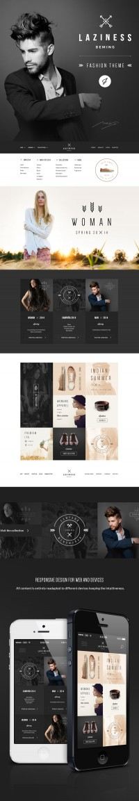 Laziness psd Theme on