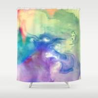 Rainbow Dancer Shower Curtain by Ally Coxon | Society6