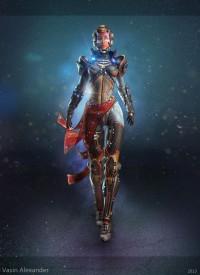 // Sci Fi girl by Vasin Alex