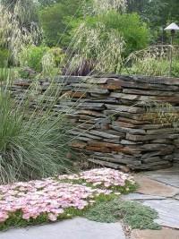 Dry stack slate stone wall - Landscape Design Forum - GardenWeb