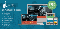Evento - Free Music Event Template - ShapeBootstrap