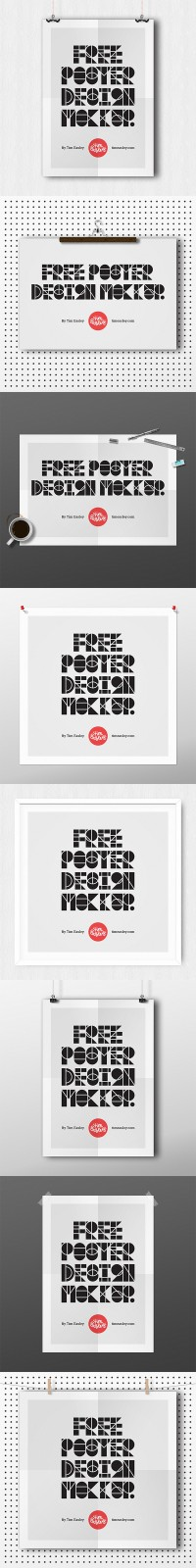 Poster Design Mockups - FreebiesXpress
