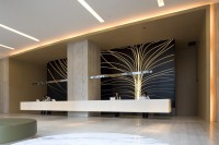 Modern Lobby and Reception Design with Chinese Elements