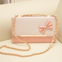 [gh10046] Candy Color Bowknot/Polka Dots/Metallic Crown Chain Bag / InvisiTree