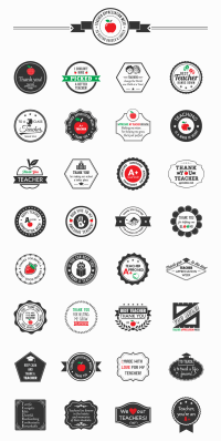 Teacher Appreciation Week Mega Pack - 32 Vector Badges & Labels | Downgraf