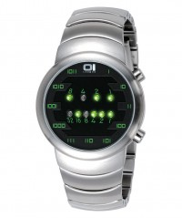 01 THE ONE SAMUI MOON COOL BINARY FASHION WATCH 39mm DIAM. SM102G2 SS BRACELET - SAMUI MOON - THE ONE 01