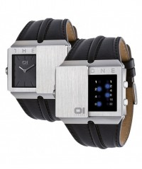 THE ONE 01 SLIDER COOL BINARY LED FASHION WATCH SD102B1 with LEATHER BAND - SLIDER - THE ONE 01