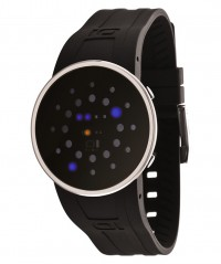 01 THE ONE SLIM ROUND COOL FASHION LED WATCH TIME & DATE SLR102B3 PU STRAP - SLIM ROUND - THE ONE 01