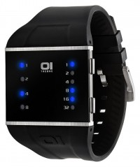 01 THE ONE SLIM SQUARE COOL FASHION LED WATCH 40mm DIAMETER SLS102B3 PU STRAP - SLIM SQUARE - THE ONE 01