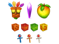 Crash Bandicoot Icons by Louie & Alexa