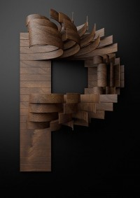Nike Typography with Wooden Slats | Key Visual ART | Pinterest
