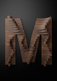 Nike Typography with Wooden Slats – Fubiz™