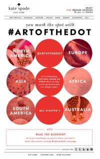 show the world your favorite spots with artofthedot | Kate Spade — Designspiration