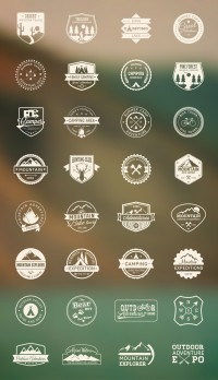 Outdoor Camping Icon Set | Best PSD Freebies