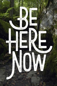 Be Here Now / typography by Damian King | Inspiration DE