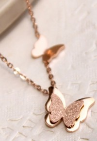 Gold Tone Butterfly Pendant Adjustable Chain Necklace from amazingmall on Storenvy