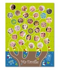Poster Pele-mele Arbre généalogique nature ? Planet-Cards.com