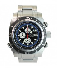 DEEP BLUE WORLD DIVER GMT 500 DIVING WATCH CHRONO QUARTZ BLACK/BLUE DIAL - WORLD DIVER GMT 500 - DEEP BLUE
